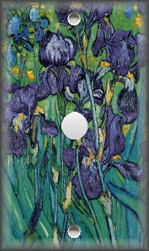 Metal Light Switch Plate Cover Van Gogh Art Irises 02 Van Gogh Art Decor