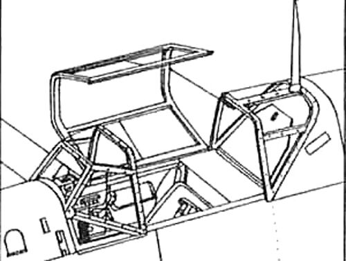 Squadron Me 109e 13 Crystal Clear Canopy For Airfix 124 Scale Kit