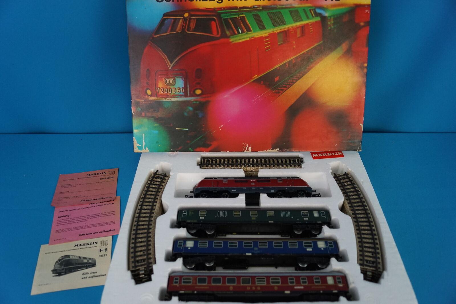 Marklin 3121 estrellat Set 70ies with Diesel Locomotive Express Train e rail oval