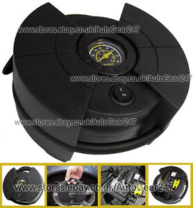 Polco-59550-Compact-80psi-Car-12v-Tyre-Air-Compressor-Inflator-Pump-with-Gauge