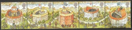 United Kingdom 15801584 five strips mint never hinged mnh 1995 GlobeTheater