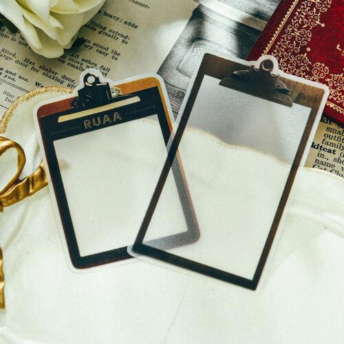 12X Vintage Vellum Paper Sticker Frame Scrapbooking Planner Card Journal Project
