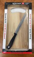 Wusthof Germany Bread Knife 4113 and Birch Cutting Board New in Box NIB
