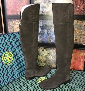 ba1472643f4 TORY BURCH SIMONE OVER-THE-KNEE SUEDE BOOT CAFE BROWN  575 NIB SIZE ...