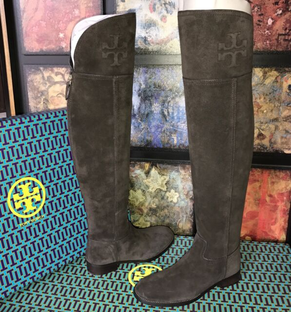 8efc752ba92 TORY BURCH SIMONE OVER-THE-KNEE SUEDE BOOT CAFE BROWN  575 NIB SIZE 6