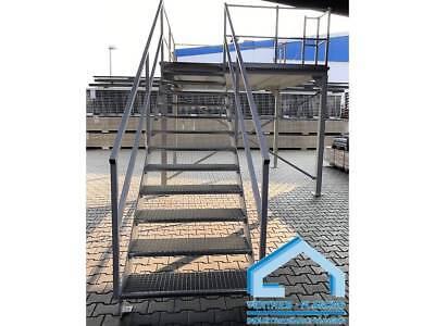 Business & Industrie Treppen & Geländer Symbol Der Marke Lagerbühne Lagerpodest 3000 X 3000 X 2350 Mm Hoch 500 Kg Tragkraft/m² Mit Treppe Eine Hohe Bewunderung Gewinnen