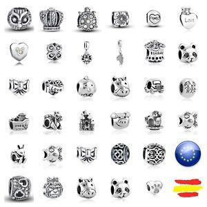 0d69fe681d38 La imagen se está cargando Charms-abalorios-pulsera-europea-color-plata- dijes-murano-