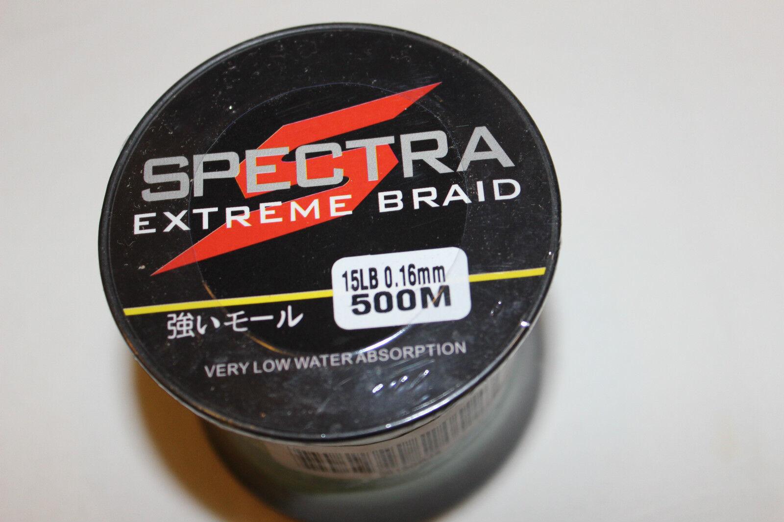 SPECTRA  DYNEMA -GEFLOCHTENE SCHNUR- 500m-016mm-6,8 kg-green