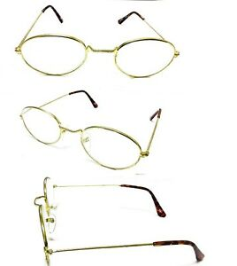 a4136d24801 Tall Bridge Oval Gold Frame Men Women Clear Lens Reading Glasses + ...