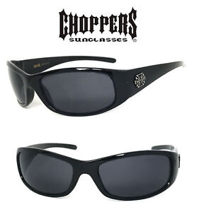 Silver New Choppers Bikers Men Sunglasses Word C24 Free Pouch
