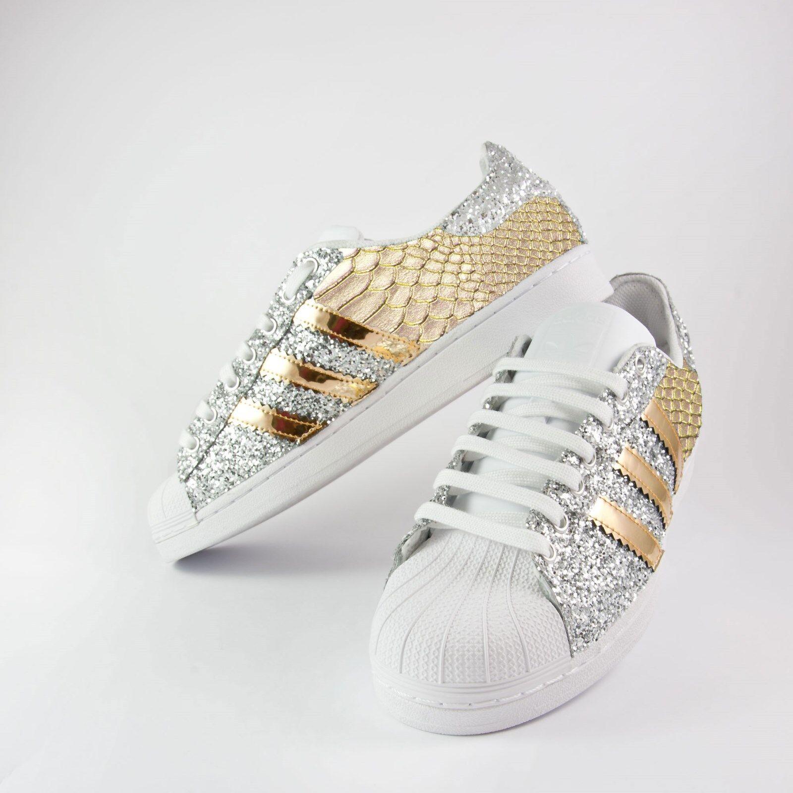 Descuento de la marca scarpe adidas superstar con glitter argento piu' specchiato oro e pitonato oro