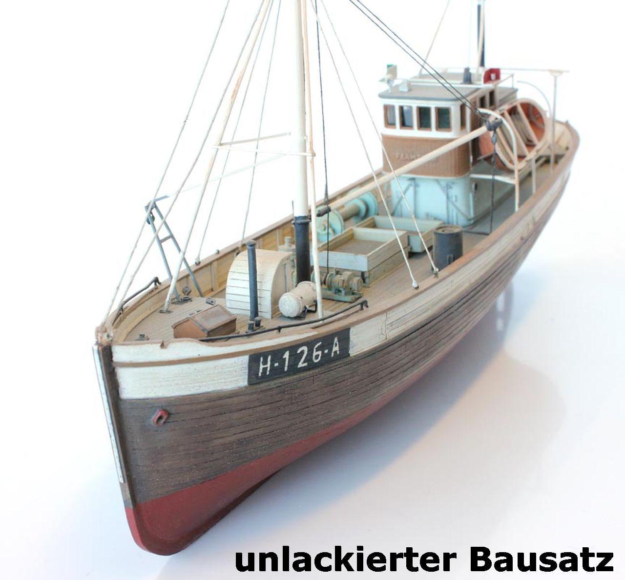 Artitec 50.107V - 1 87  Norwegisches FischerStiefel Framtid I, Vollrumpf, Bausatz  | Clearance Sale