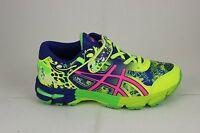 Kid's Asics Gel-noosa Tri 11 Strap Ps Safety Yellow/pink/blue C604n 0720