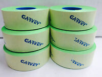 Genuine Garvey 2 Lines Labels Price Gun 22-66/22-77/22-88 Green Flouresce 9rolls