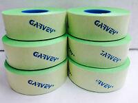 Genuine Garvey 2 Lines Labels Price Gun 22-66/22-77/22-88 Green Flouresce 9rolls
