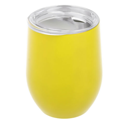 9oz Wine Glass Stainless Steel Insulated Tumbler Tea Cup Camping BBQ w// Lid