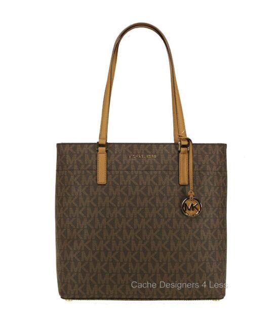 New Michael Kors Morgan Signature Medium Brown Tote Bag Handbags
