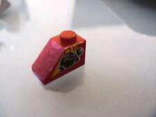 LEGO 3040pb013L @@ Slope 45 2 x 1 Turtle on Left Side Pattern (Sticker) @@ 8858