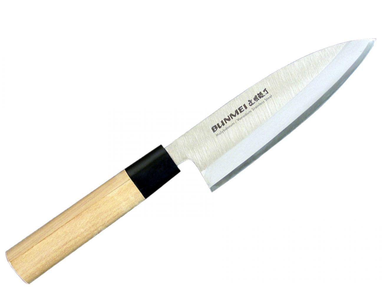 Bunmei 1801 165 DEBA COLTELLO COLTELLO CUCINA IN LEGNO Giappone ROSTFREI 16,5 cm