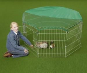 Stylo-bille pour cage de lapin octogone en plein air avec couvercle de protection contre le soleil 55 Inc