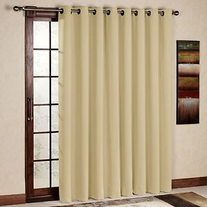 Image Is Loading Rhf Wide Thermal Blackout Patio Door Curtain Panel