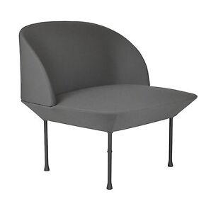Muuto Oslo Sessel Anderssen & Voll Stoff Steelcut grau 160 Lounge Chair B 80 cm