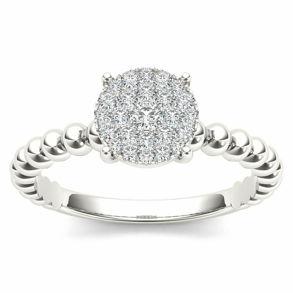 14K White gold 1 5ct TDW Diamond Composite Engagement Ring