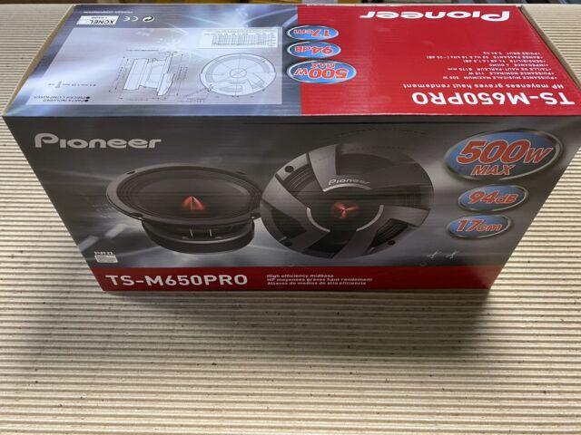 """PAIR Pioneer TS-M650PRO 6-1/2"""" PRO Series High Efficiency Mid Range Car Speakers"""
