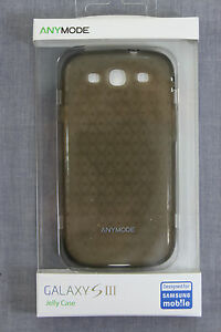 SAMSUNG-GALAXY-S-III-Black-Anymode-Polygon-Jelly-Silicone-Case-NEW-SEALED