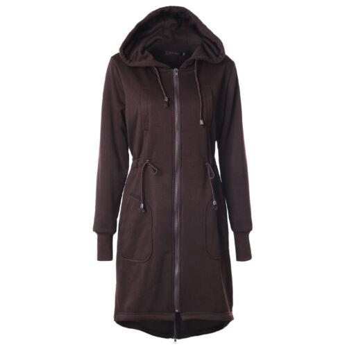 Lady Winter Parka Hooded Jacket Windproof Trench Coat Long Raincoat Oversized