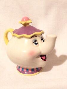 Mrs-Potts-Schmid-3-034-Ceramic-Porcelain-Figurine-Beauty-amp-the-Beast-Disney-Teapot