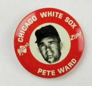 Chicago-White-Sox-1969-Pete-Ward-Rare-Keyll-039-s-Zip-Baseball-Pin-MLBPA-Excellent