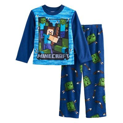 Minecraft Boys Pajamas Steve and Creeper