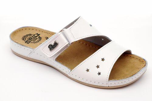 Y71 Rosso Sandali Zoccoli On Bianco Slip Leather Dr Women Sandali Punto Pantofole Brill Sz5q5txp