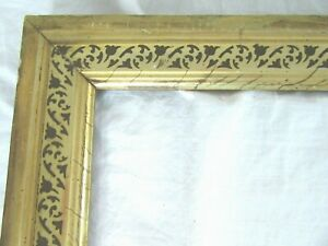 Antique-Fits-11-X-14-034-Lemon-Gold-Gilt-Picture-Frame-Stencil-Wood-Gesso-Fine-Art