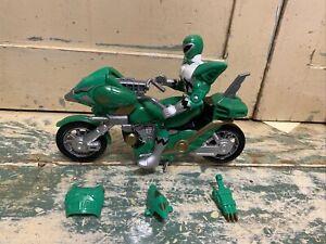 1998 Bandai Power Rangers Green Astro Bike Lost Galaxy Motorcycle And Ranger
