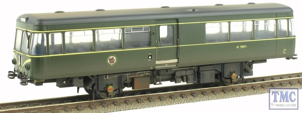 11087521 Heljan OO HO Gauge Park Royal Railbus M79971 BR Green Weathered by TMC