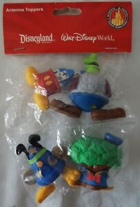 Disney-Antenna-Toppers-4-Parks-Icons-Mickey-Donald-Goofy-Pluto-Set-New