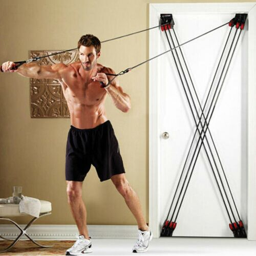 Total Stretch Door Loop Fitness Machine Resistance Tension Trainer Gym Workout