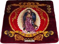 One Ply Virgin Mary Maroon Soft Mink Queen Size Blanket