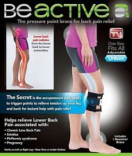 Be Active Brace Acupressure Leg Hip Pain Relieve Tension Sciatica Nerve Seen TV@