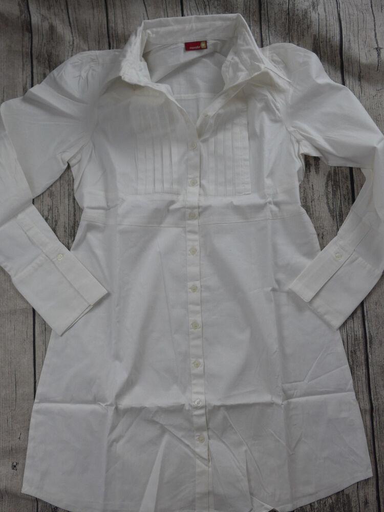 9monate De Maternité Blouse Tunique Taille 34 - 40 Blanc Nervures (483) Neuf