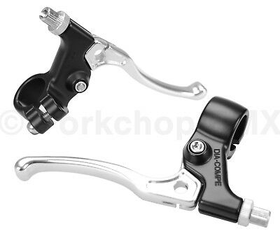 Dia-Compe old school BMX Tech 5 NON-LOCKING Brake Levers Lever Set WHITE