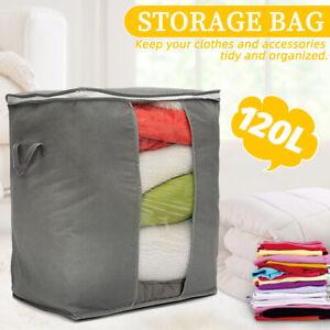 Foldable Bamboo Charcoal Clothes Storage Bag Box Blanket Closet Organizer