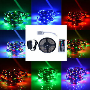 bunt 5m licht led lichtband strip rgb fernbedienung innen led streifen 60leds m ebay. Black Bedroom Furniture Sets. Home Design Ideas