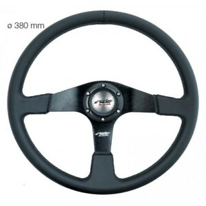 Simoni-Racing-Volante-Universale-DEF35-P-in-Ecopelle-Alluminio-Nero-Defender-350