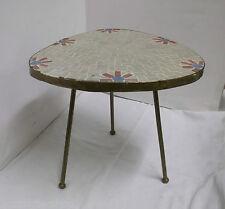 50er 60er Blumentisch Blumenhocker Mosaiksteine Handarbeit mid century 50s