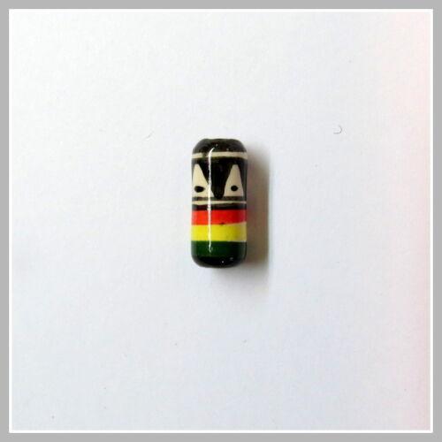 Porcelana Inka cerámica perlas rasta cilindro agujero 2mm bastelschmuck handarbeitneu