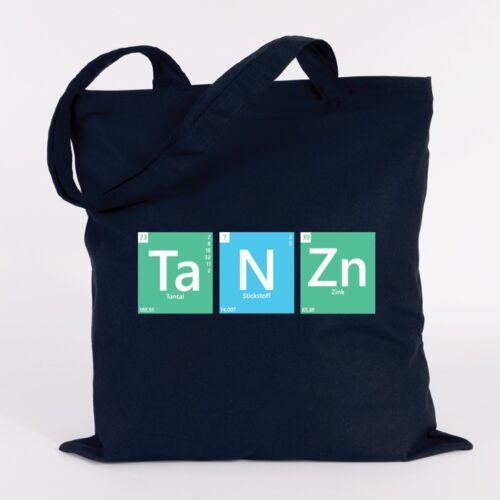 """Farben Tasche Geschenk JUNIWORDS Jutebeutel Motiv /""""Periodensystem Tanzn/"""" versch"""