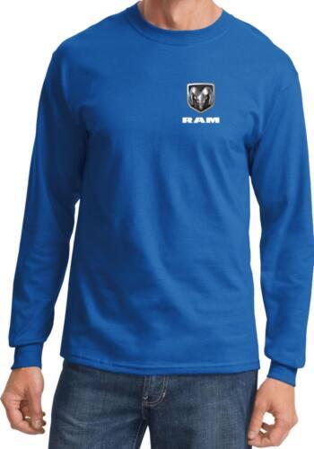 Mens Dodge Ram Logo Pocket Print Long Sleeve T-Shirt